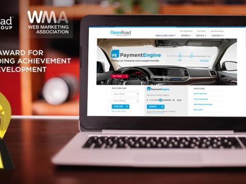 OpenRoad Auto Group Wins 2015 WebAward