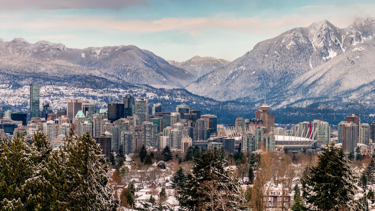 Vancouver in the wintertime.