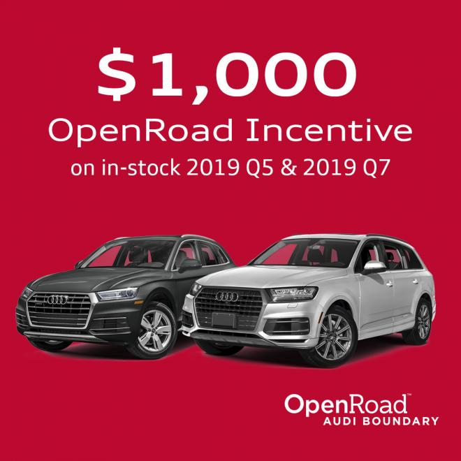 OpenRoad Audi January Holiday Sale