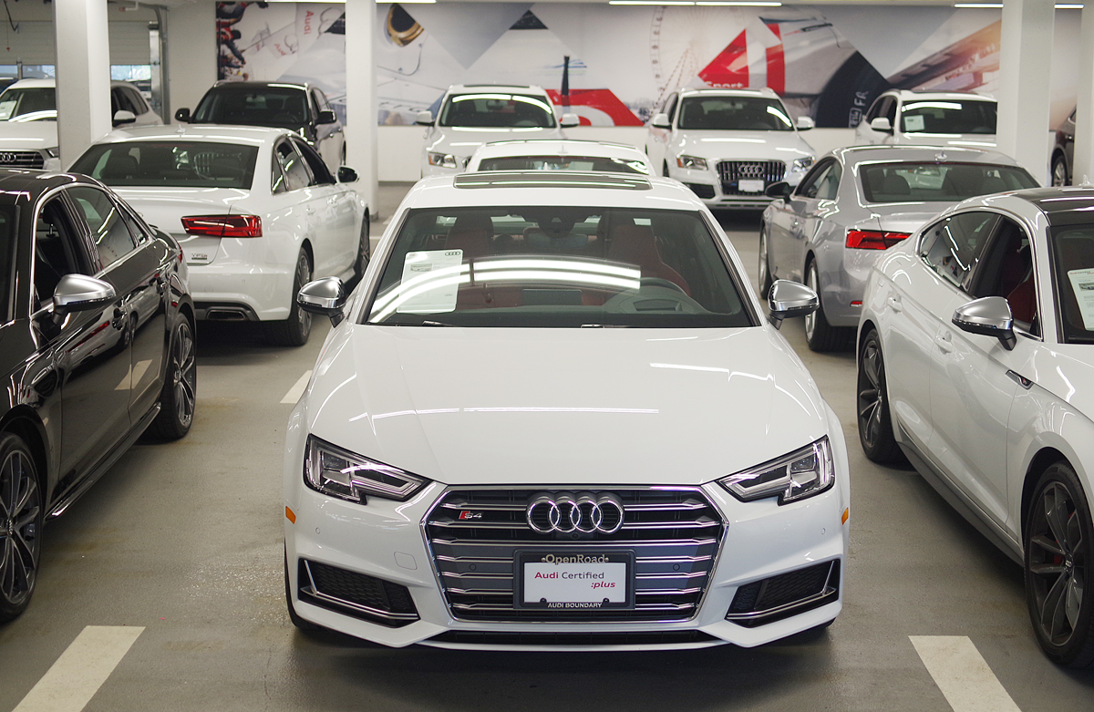 audi boundary certified pre-owned lot