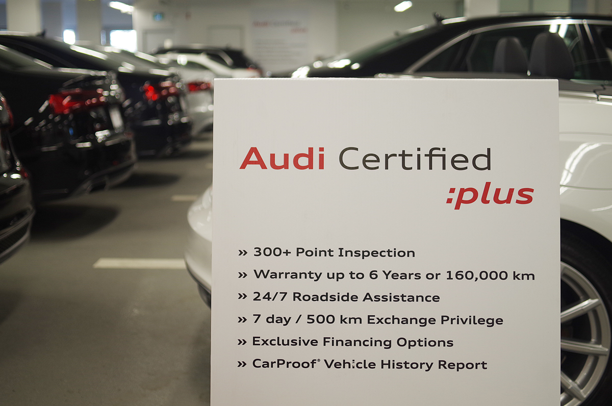 audi certified plus benefits